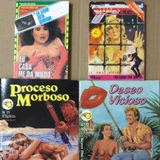 Cómics: LOTE 4 COMICS TEBEO RELATOS GRAFICOS PARA ADULTOS - PROCESO MORBOSO DESEO VICIOSO CHICAGO EROTICO. Lote 228591910