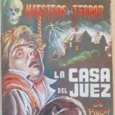 Cómics: COMICSMAESTROS DEL TERROR Nº 1. LA CASA DEL JUEZ DE BRAM STOKER. EDITA E. C. A. 1984. BUENO. Lote 233880130