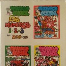 Comics: MANOLO E IRENE - ALBUM Nº 1, 2 Y 3 - COMIC PARA ADULTOS. Lote 239995845
