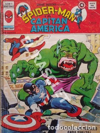 SPIDER-MAN Y EL CAPITAN AMERICA - PELIGRO : UN DEMONIO ANDA SUELTO - Nº 71 (Coleccionismo para Adultos - Comics)