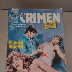 Cómics: 49070 - CRIMEN - ELPESO MUERTO - MERCADERES DE CARNE - Nº 42 - EDICIONES ZINCO - AÑO 1984. Lote 262203360