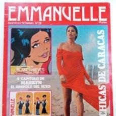 Cómics: EMMANUELLE - FASCÍCULO Nº 26 - LAS CHICAS DE CARACAS. Lote 262210485