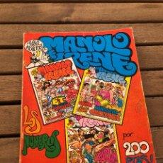 Cómics: MANOLO E IRENE - NUMS. 4, 5 Y 6 - RETAPADO. Lote 262269985