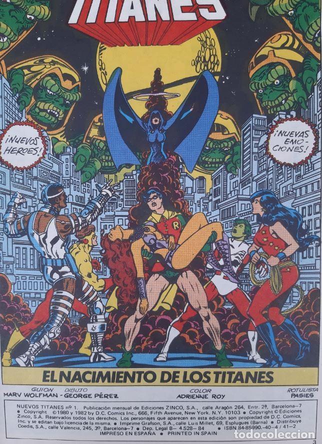 Cómics: COMICS NUMEROS 1 DE EDICIONES ZINCO, 9 EJEMPLARES - Foto 8 - 274917283