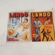 Comics: LOTE DE 2 COMICS ERÓTICOS, DE LANDO, 1970´S, EDICIONES ACTUALES, BARCELONA. Lote 287461438