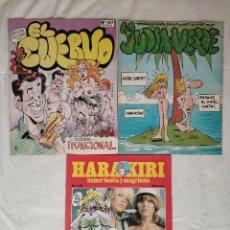 Cómics: LOTE DE 3 COMICS, JUDIA VERDE, HARAKIRI, EL CUERVO. Lote 293257723