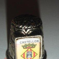 Coleccionismo de dedales: DEDAL METAL . CASTELLON . SERIE CIUDADES.. Lote 17697784