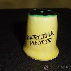 Coleccionismo de dedales: DEDAL DE' BARCENA MAYOR`` CERAMICA. Lote 31688888