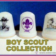 Coleccionismo de dedales: BADEN POWELL EMBLEMA SNOOPY BOY SCOUT FLOR DE LIS ETC TINTIN BOY SCOUT . Lote 126062610