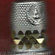 Coleccionismo de dedales: DEDAL CON LA VIRGEN DEL HENAR PLATEADO. Lote 36376628