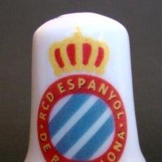 Coleccionismo de dedales: DEDAL DE PORCELANA - RCD ESPANYOL. Lote 148142486