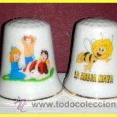 Coleccionismo de dedales: DEDALES ABEJA MAYA + HEIDI. Lote 143833537