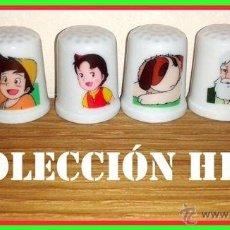 Coleccionismo de dedales: DEDALES COLECCION HEIDI. Lote 143831590