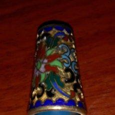 Coleccionismo de dedales: DEDAL CON BAÑO DE ORO . CLOISONNE.. Lote 55347658