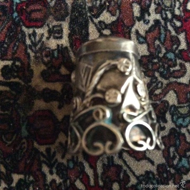 Coleccionismo de dedales: Dedal en plata bonito con filigrana - Foto 2 - 57399849