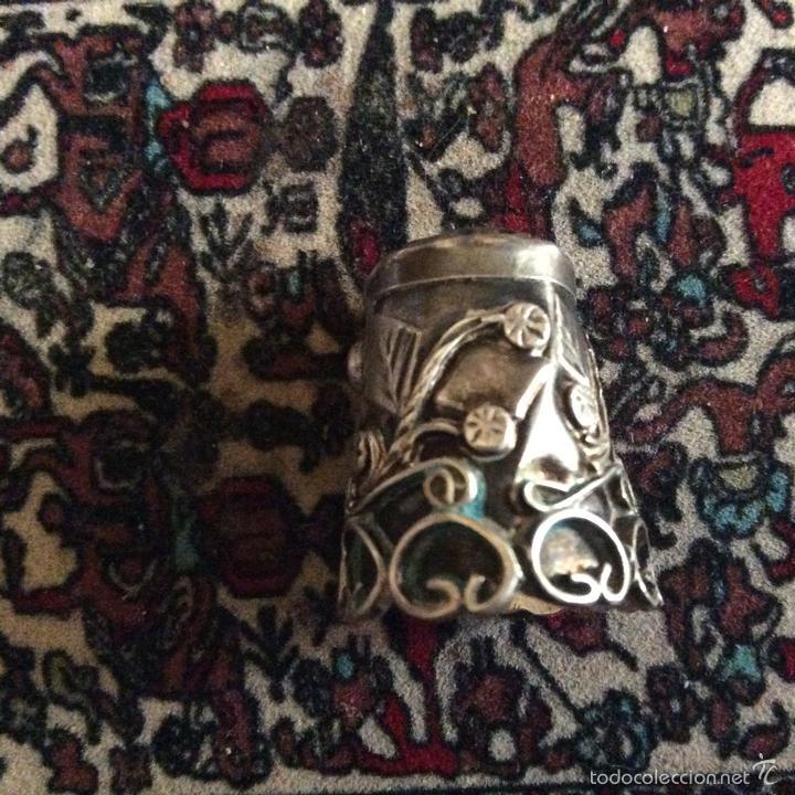 Coleccionismo de dedales: Dedal en plata bonito con filigrana - Foto 3 - 57399849