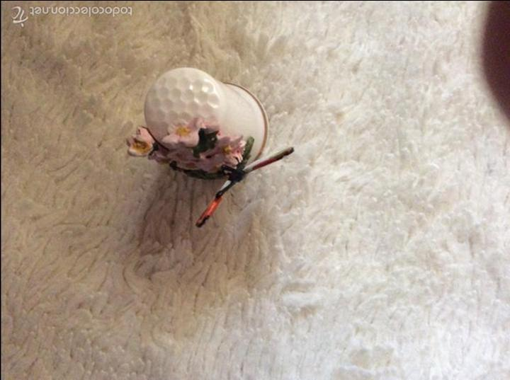 Coleccionismo de dedales: Dedal de porcelana con sello en el interior ingles. - Foto 3 - 57934565