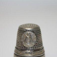 Coleccionismo de dedales: MET022 DEDAL EN METAL PLATEADO RECUERDO DE NTA. SRA. DE LAS NIEVES - ALTURA 22 MM. Lote 98112512