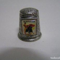 Collectionnisme de dés à coudre: DEDAL DE METAL DE TORERO (TAUROMAQUIA) (METALICO) NUEVO. Lote 71695727