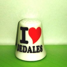 Coleccionismo de dedales: DEDAL I LOVE DEDALES O PERSONALIZADO CON TU O SU NOMBRE . Lote 91145960