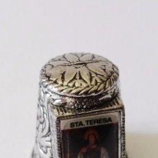 Coleccionismo de dedales: DEDAL DE METAL - SANTA TERESA -SEGUNDA MANO. Lote 85699612