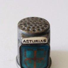 Coleccionismo de dedales: DEDAL DE METAL - ASTURIAS - SEGUNDA MANO. Lote 85699968