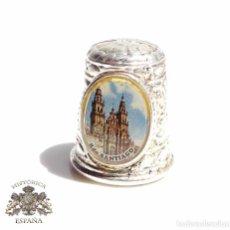 Coleccionismo de dedales: DEDAL RECUERDO DE SANTIAGO. Lote 87532736