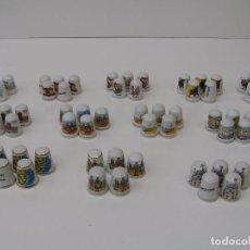 Coleccionismo de dedales: LOTE DE 60 DEDALES NUEVOS. - DEDAL DE PORCELANA DE COLECCION -. Lote 90541145