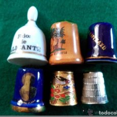 Coleccionismo de dedales: DEDALES DE COLECCION - LOTE DE 6 DEDALES. Lote 97659443