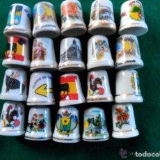 Coleccionismo de dedales: LOTE DE 20 DEDALES DE COLECCION - LUGARES DE ESPAÑA . Lote 97714611