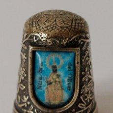 Coleccionismo de dedales: DEDAL DE BRONCE CON VIRGEN NTRA SRA DEL OLIVAR. VER FOTOS PARA VER DETALLES.. Lote 98963603
