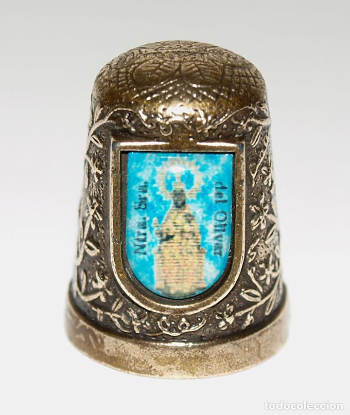 Coleccionismo de dedales: DEDAL DE BRONCE CON VIRGEN NTRA SRA DEL OLIVAR. VER FOTOS PARA VER DETALLES. - Foto 10 - 98963603