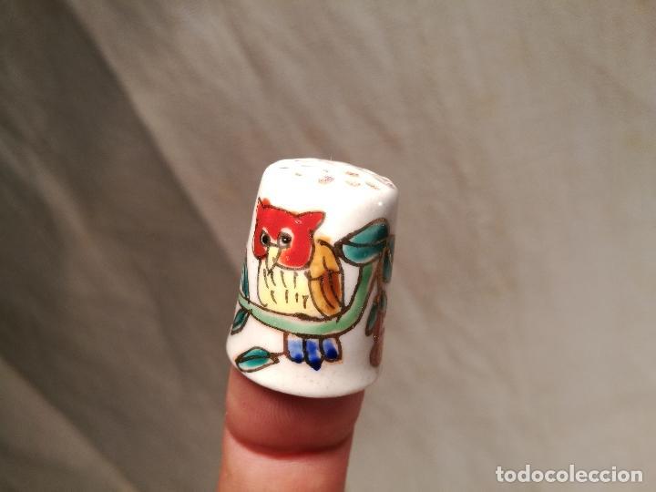 Coleccionismo de dedales: dedal buho porcelana fina - Foto 5 - 102770691