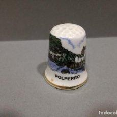 Coleccionismo de dedales: DEDAL PORCELANA - POLPERRO, INGLATERRA - FINE BONE CHINA. Lote 104330083