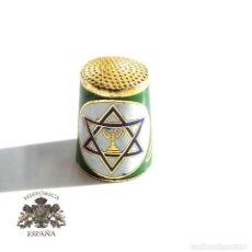 Coleccionismo de dedales: DEDAL ESMALTADO JUDIO DE ISRRAEL . Lote 110220475