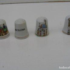 Coleccionismo de dedales: LOTE DE 4 DEDALES DE BARCELONA: SAGRADA FAMILIA - (DEDAL DE PORCELANA NUEVO) - PARA COLECCION. Lote 114553871