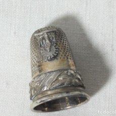 Coleccionismo de dedales: DEDAL PLATA DE LEY VIRGEN DEL PILAR , COLECCION. Lote 128545175