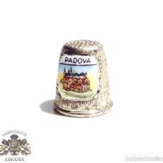 Coleccionismo de dedales: DEDAL PADOVA ESMALTADO. Lote 128577151