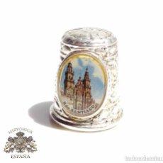 Coleccionismo de dedales: DEDAL RECUERDO DE SANTIAGO. Lote 128577211