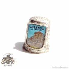 Coleccionismo de dedales: DEDAL GRANADA LA CARTUJA. Lote 128577311