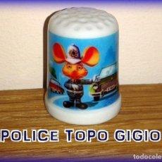 Coleccionismo de dedales: DEDAL TOPO GIGIO POLICIA MUNICIPAL TOPO GIGGIO. Lote 143831253