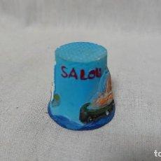 Coleccionismo de dedales: DEDAL SOUVENIR RECUERDO SALOU. Lote 146485798