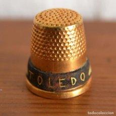Coleccionismo de dedales: DEDAL ARTESANAL DE TOLEDO EN DORADO * . Lote 147049882
