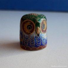 Coleccionismo de dedales: DEDAL BUHO. Lote 150213706