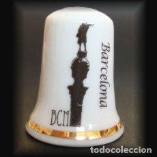 Coleccionismo de dedales: DEDAL PORCELANA - MONUMENTO A COLÓN (BARCELONA). Lote 30996898