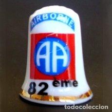 """Coleccionismo de dedales: DEDAL PORCELANA - LOGO DE LA 82 DIVISIÓN AEROTRANSPORTADA """"ALL AMERICAN"""" (US ARMY). Lote 51252646"""