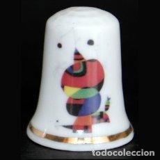 Coleccionismo de dedales: DEDAL PORCELANA - JOAN MIRÓ (DONA OCELL). Lote 56665231