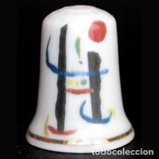 Coleccionismo de dedales: DEDAL PORCELANA - JOAN MIRÓ. Lote 56665238