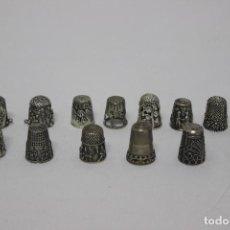 Coleccionismo de dedales: LOTE DE 14 DEDALES DE PLATA ANTIGUOS. SALIDA 1€.. Lote 155760022