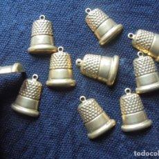 Coleccionismo de dedales: LOTE 10 DEDALES PLANOS PARA MANUALIDADES. Lote 155813430